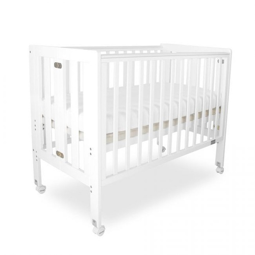 Fold N Go Folding Timber Cot White