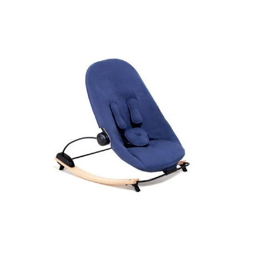 Coco Go Lounger Natural Frame Navy Blue Organic Seat