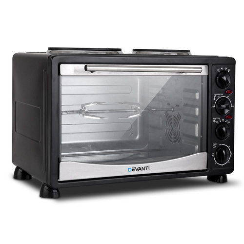 Devanti 34L Portable Convection Oven - Black