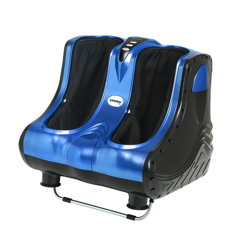 Livemor 3D Foot Massager Roller Machine Ankle Calf Leg Shiatsu Kneading Blue