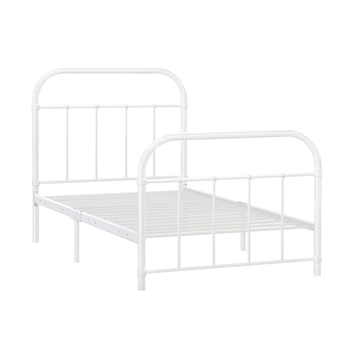 Artiss Metal Single Bed Frame - White