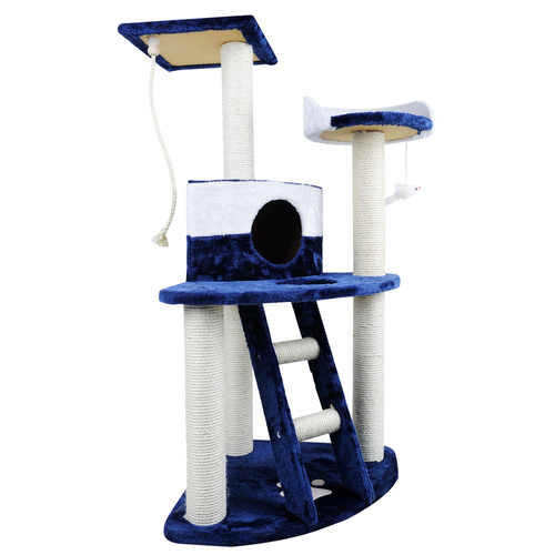 i.Pet 120cm Cat Scratching Tree - Blue & White