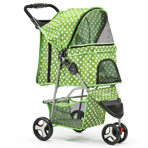 i.Pet 3 Wheel Pet Stroller - Green