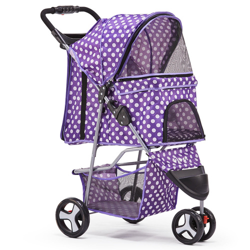 i.Pet 3 Wheel Pet Stroller - Purple
