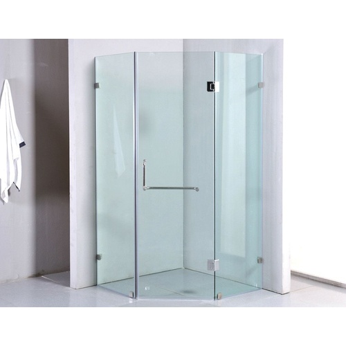 1000 x 1000mm Frameless 10mm Glass Shower Screen By Della Francesca