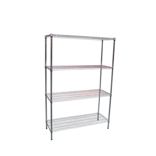 Modular Chrome Wire Storage Shelf 1200 x 450 x 1800 Steel Shelving