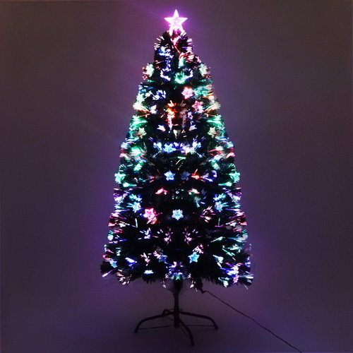Jingle Jollys 1.5M 5FT LED Christmas Tree Xmas Optic Fiber Multi Colour Lights