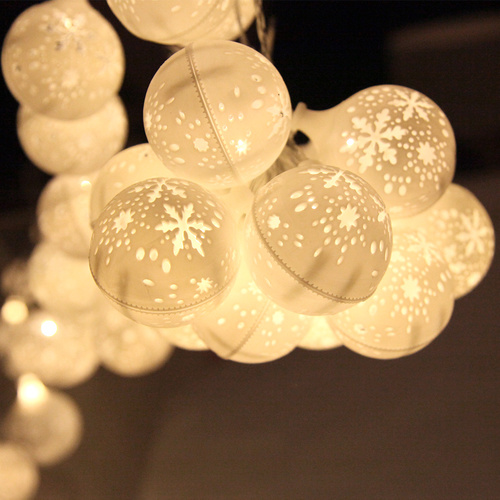 Jingle Jollys Christmas Snowflake Festoon String Lights 50LED Warm White