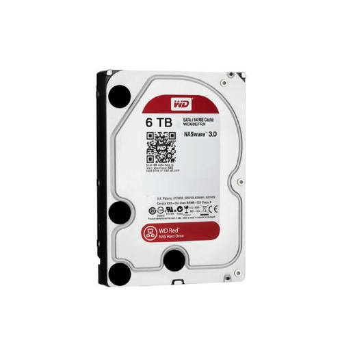 "WD HDD 3.5"" Internal SATA 6TB Red, Variable RPM, 3 Year Warranty"