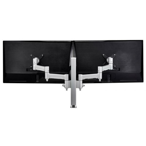 Atdec AWM Dual monitor arm solution - 460mm articulating arms - 400mm post - F clamp - black