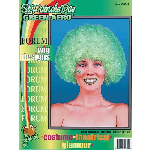 Afro Wig Adult - Green