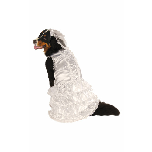 Bride Big Dog Pet Costume - Size Xxl